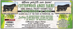 Cottonwood Angus Annual Profit Makers Sale @ Pipestone | Minnesota | United States