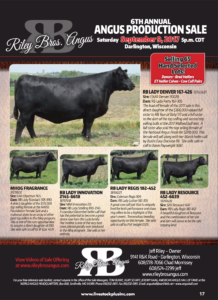 Riley Bros Angus Production Sale @ Darlington | Wisconsin | United States