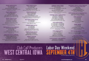 West Central Iowa Club Calf Sale