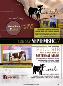 JA Cattle Club Calf Sale @ Maquoketa | Iowa | United States
