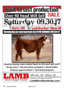 "Lamb Bros ""Built to Last"" Production Sale @ Wilson 