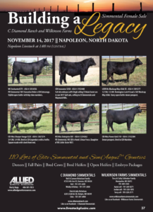Building a Legacy Female Sale @ C Diamond Ranch and Wilkinson Farms | Napoleon | North Dakota | United States