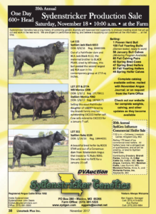 Sydenstricker Production Sale @ Sydenstricker Genetics | Mexico | Missouri | United States
