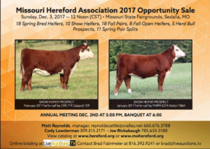 Missouri Hereford Association Opportunity Sale @ Missouri State Fairgrounds | Sedalia | Missouri | United States