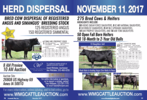 KMJ Cattle Herd Dispersal @ KMJ Cattle | Ames | Iowa | United States