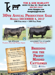 TK Angus 30th Annual Production Sale @ Tim & Kim Marlatt | Wood Lake | Nebraska | United States