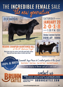 "The Incredible Female Sale ""The New Generation"" @ Dunlap Livestock Auction 