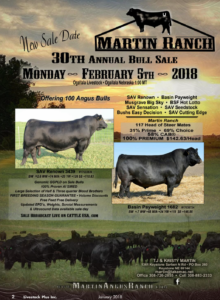 Martin Ranch 30th Annual Bull Sale @ Ogallala Livestock | Ogallala | Nebraska | United States