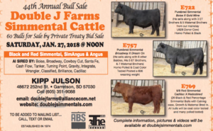 44th Annual Bull Sale Double J Farms @ Double J Farms Simmental Cattle | Garretson | South Dakota | United States
