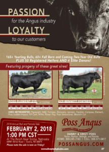 2018 Poss Angus Annual Bull and Female Sale @ At the ranch | Scotia | Nebraska | United States