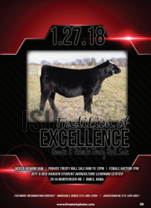 ISU Tradition of Excellence Female & Private Treaty Bull Sale @ Jeff & Deb Hansen Agriculture Learning Center | Ames | Iowa | United States