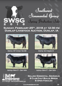 Southwest Simmental Group Spring Production Sale @ Dunlap Livestock Auction | Dunlap | Iowa | United States