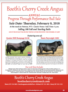 Booth's Cherry Creek Angus Annual Progress Through Performance Bull Sale @ At the Ranch | Veteran | Wyoming | United States