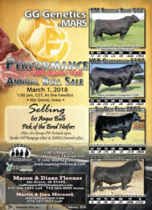 GG Genetics & Mars Annual Bull Sale @ At the feedlot | Ida Grove | Iowa | United States