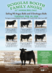 Douglas Booth Family Angus @ Torrington Livestock Market | Torrington | Wyoming | United States