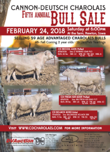 Cannon-Deutsch Charolais 5th Annual Bull Sale @ At the farm | Newton | Iowa | United States