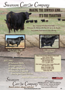 Swanson Cattle Company Annual Sale @ At the ranch | Oxford | Nebraska | United States