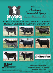 20th Annual Southwest Simmental Group Spring Production Sale @ Dunlap Livestock Auction | Dunlap | Iowa | United States