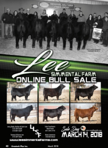 Lee Simmental Farm Online Bull Sale @ SC Online Sales