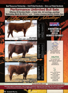 Performance Unlimited Bull Sale @ Creston Livestock Auction | Creston | Iowa | United States