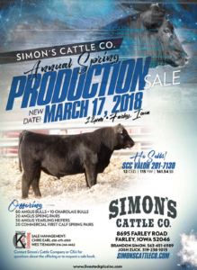 Simon's Cattle Co. Annual Spring Production Sale @ At the farm | Farley | Iowa | United States