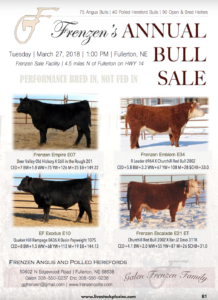 Frenzen's Annual Bull Sale @ Frenzen Sale Facility | Fullerton | Nebraska | United States