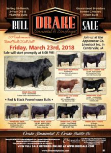 Drake Simmental Bull Sale @ Appanoose Co Livestock Inc.  | Centerville | Iowa | United States