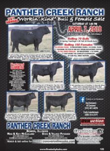 Panther Creek Ranch Bull & Female Sale @ At the ranch | Bowen | Illinois | United States