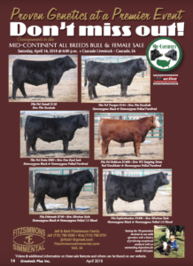 Mid-Continent All Breeds Bull and Female Sale @ Cascade Livestock | Cascade | Iowa | United States