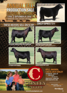 Conley Cattle Fall Production Sale @ Sulphur | Oklahoma | United States