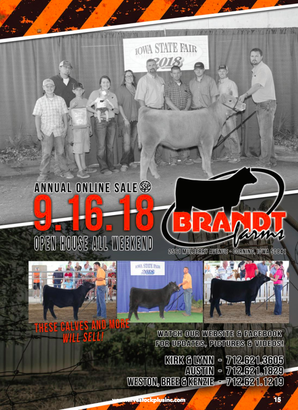 Brandt Farms Online Sale & Open House on 9/16/18