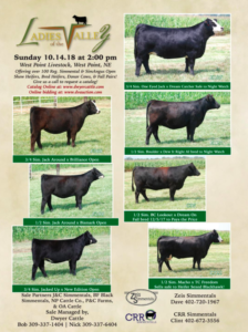 Ladies of the Valley Sale @ West Point Livestock | West Point | Nebraska | United States