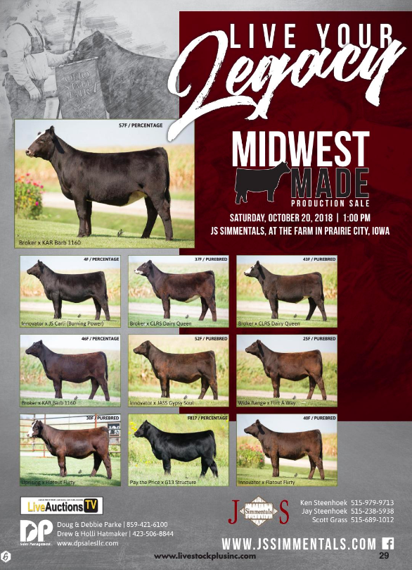 Midwest Made Production Sale - Livestock Plus, Inc