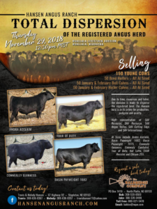 Hansen Angus Ranch Total Dispersion Sale @ Ogallala Livestock Auction | Ogallala | Nebraska | United States