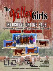 The Valley Girls Inaugural Online Sale @ at the Ranch | Fairbury | Nebraska | United States